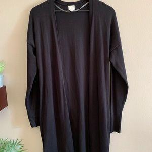 Black long open front cardigan 🌺